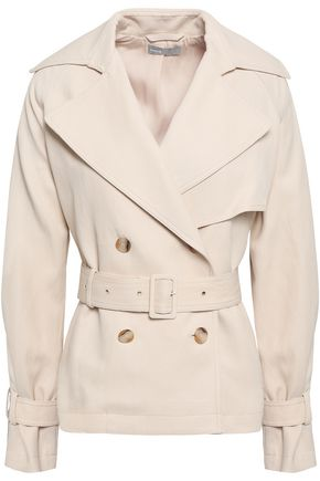 VINCE. Double-breasted canvas trench coat