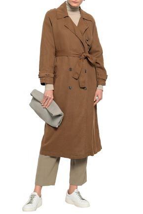 AMERICAN VINTAGE Double-breasted twill trench coat