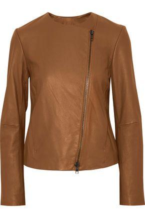 VINCE. Leather biker jacket