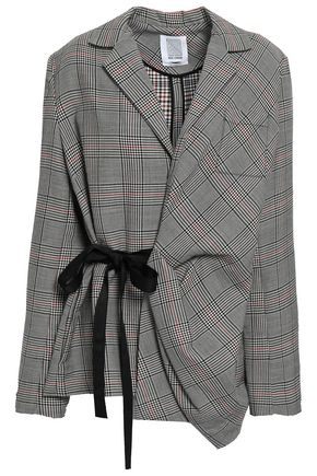 ROSIE ASSOULIN Draped Prince of Wales checked wool blazer