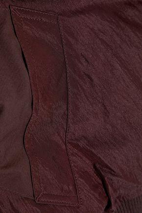 VINCE. Paneled crinkled-shell bomber jacket