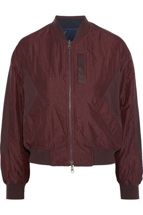 VINCE. Paneled crinkled-shell bomber jacket