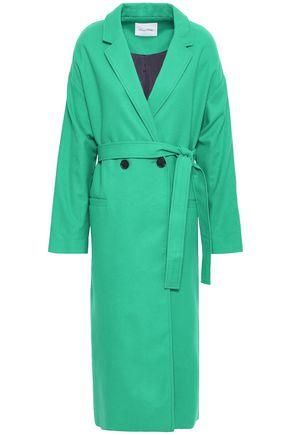 AMERICAN VINTAGE Double-breasted belted wool-blend felt coat