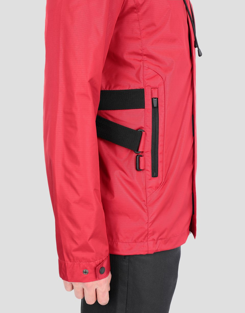 Scuderia Ferrari Online Store - Men's hooded water-repellent CARBONX jacket - Bombers & Track Jackets