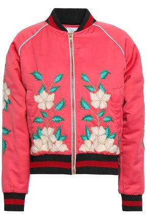 ANTIK BATIK Embroidered shell bomber jacket