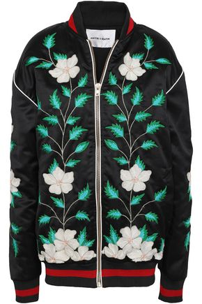 ANTIK BATIK Embroidered woven bomber jacket