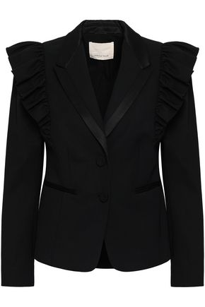 REBECCA TAYLOR Ruffled stretch-wool twill blazer
