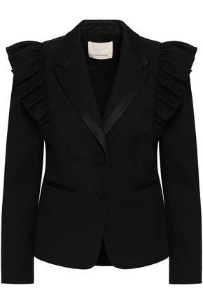 REBECCA TAYLOR Ruffled stretch-wool twill blazer