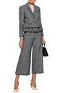 REBECCA TAYLOR Frayed tiered cotton-blend tweed blazer