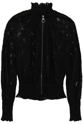 REBECCA TAYLOR Corded lace bomber jacket