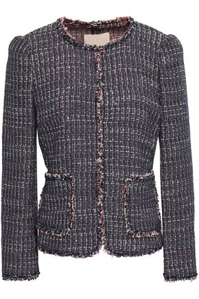 REBECCA TAYLOR Frayed cotton-blend tweed jacket