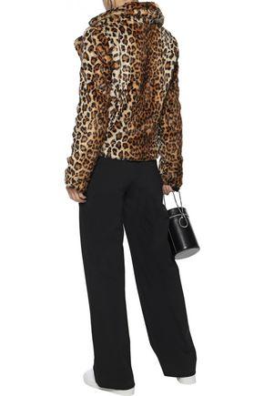 REBECCA MINKOFF Hudson leopard-print faux fur jacket