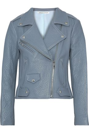 REBECCA MINKOFF Wes textured-leather biker jacket