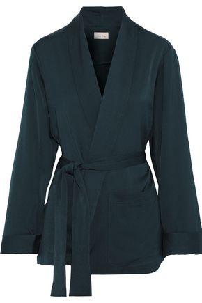 AMERICAN VINTAGE Arivagigi satin-crepe wrap jacket