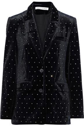 REBECCA MINKOFF Morris crystal-embellished velvet blazer