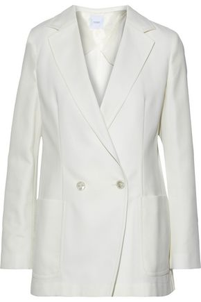 AGNONA Double-breasted cotton-twill blazer