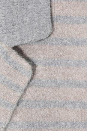 LINE Emily double-breasted striped brushed-felt blazer