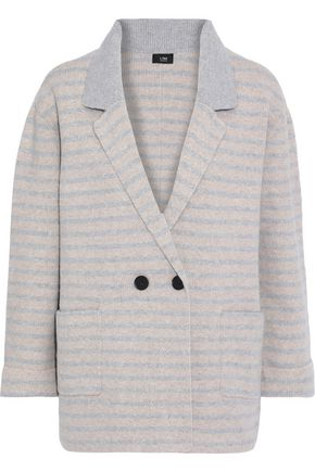 LINE Emily double-breasted striped brushed-felt blazer