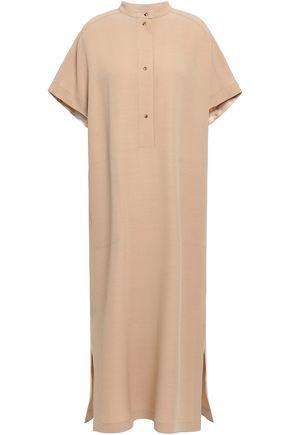 AGNONA Crepe-satin midi shirt dress