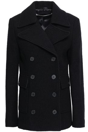 McQ Alexander McQueen Double-breasted brushed wool-felt coat