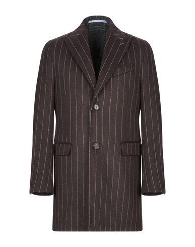 Фото - Мужское пальто или плащ  темно-коричневого цвета
