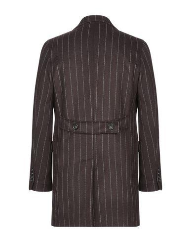 Фото 2 - Мужское пальто или плащ  темно-коричневого цвета