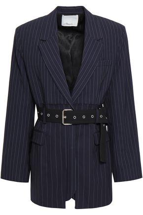 3.1 PHILLIP LIM Belted pinstriped stretch-wool blazer