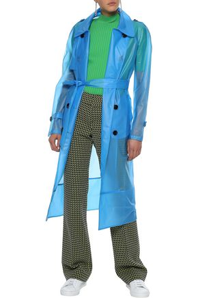 W118 by WALTER BAKER Leland double-breasted PVC trench coat