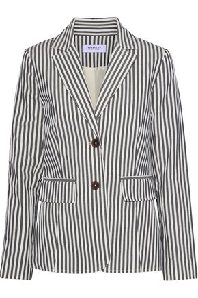 DEREK LAM 10 CROSBY Striped cotton-blend twill blazer