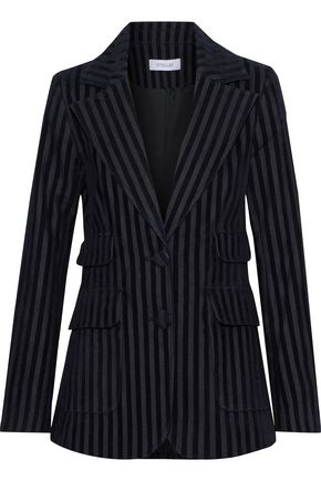 DEREK LAM 10 CROSBY Flocked cotton-blend twill blazer