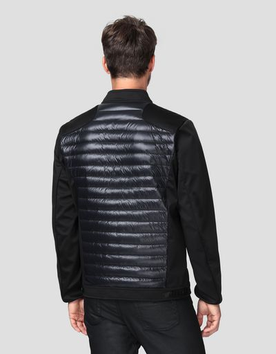 Men's bomber jacket with real feather down