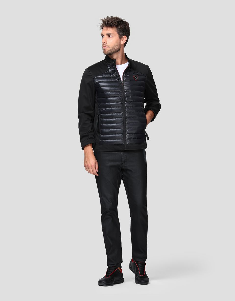 Scuderia Ferrari Online Store - Men's bomber jacket with real feather down - Down Jackets