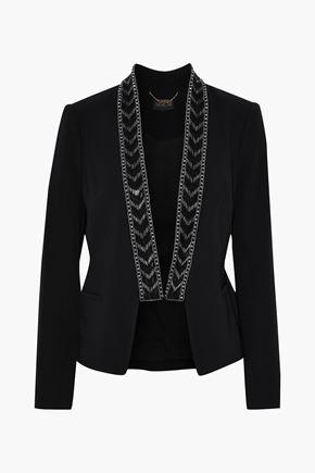 RACHEL ZOE Mya bead-embellished crepe blazer
