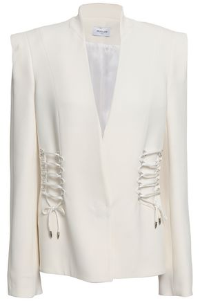 MUGLER Lace-up cady blazer