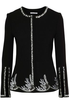 OSCAR DE LA RENTA Embellished wool-blend jacket