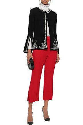 OSCAR DE LA RENTA Embellished wool-blend jacket
