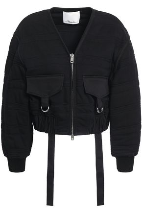 3.1 PHILLIP LIM Quilted French cotton-terry bomber jacket
