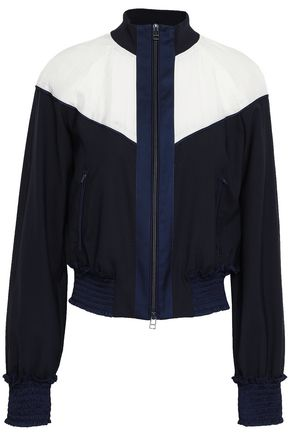 3.1 PHILLIP LIM Paneled shell and wool-blend jacket