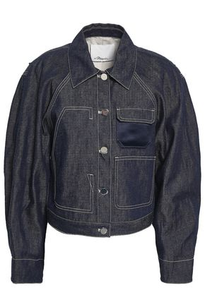 3.1 PHILLIP LIM Satin-paneled denim jacket