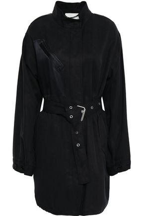 3.1 PHILLIP LIM Satin-paneled belted twill jacket