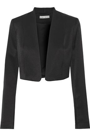 ALICE + OLIVIA Londyn cropped satin-crepe jacket