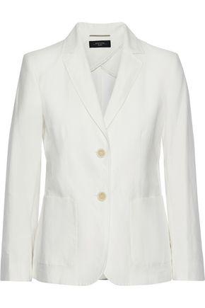 WEEKEND MAX MARA Reflex cotton and linen-blend twill blazer
