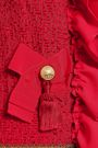 DOLCE & GABBANA Ruffled bow-embellished fil coupé jacket