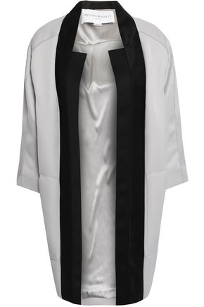 AMANDA WAKELEY Mesh-trimmed satin coat