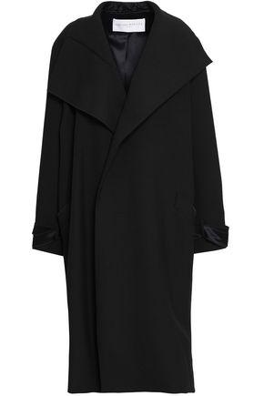 AMANDA WAKELEY Satin-trimmed woven coat