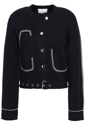 3.1 PHILLIP LIM Belted embroidered cotton-blend jacket