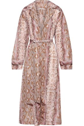 EMILIA WICKSTEAD Wallace belted snake-print shell coat