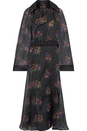 EMILIA WICKSTEAD Trisha belted floral-print silk-organza coat
