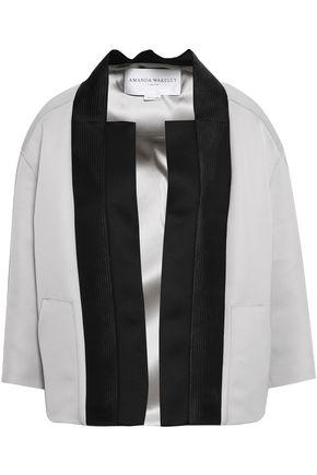 AMANDA WAKELEY Mesh-trimmed two-tone satin jacket