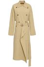 MICHAEL KORS COLLECTION Belted draped linen and silk-blend trench coat